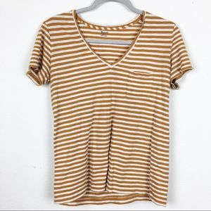 Madewell yellow striped top